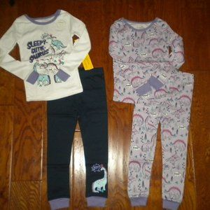 Members Mark Size 4T Four Piece Girls Pajama Sets